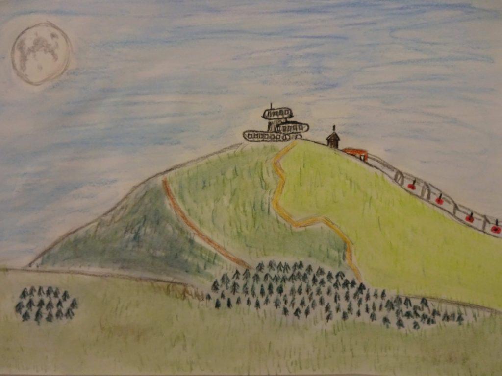 『クルコノシェ山脈~Karkonosze-Śnieżka』 作者: Piotr Pustoła  (2006年生まれ) ---