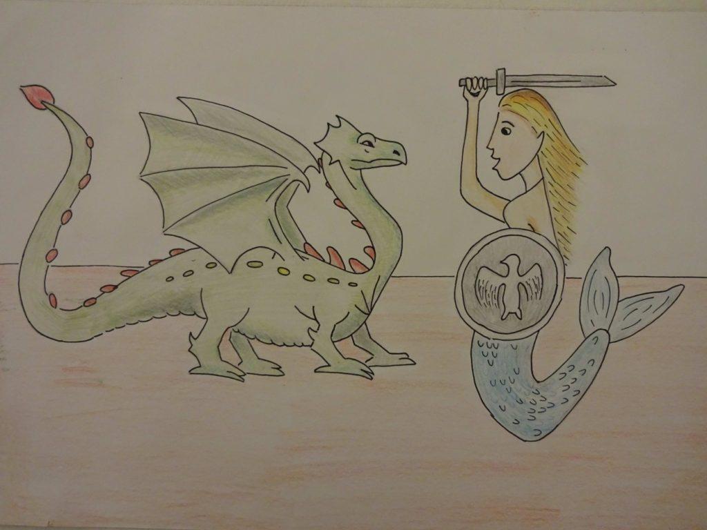 『国家の象徴』 作者: Sara Mielcarek  (2006年生まれ) ---