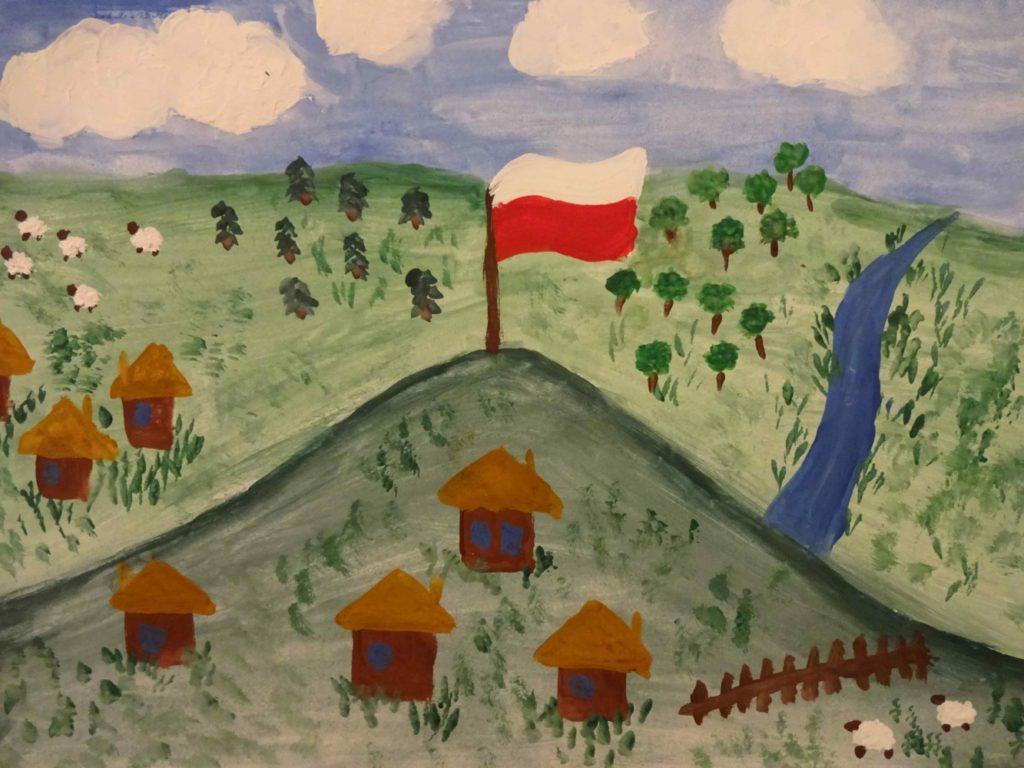 『ポーランド、私の母国』 作者: Alicja Czarnecka  (2006年生まれ) ---