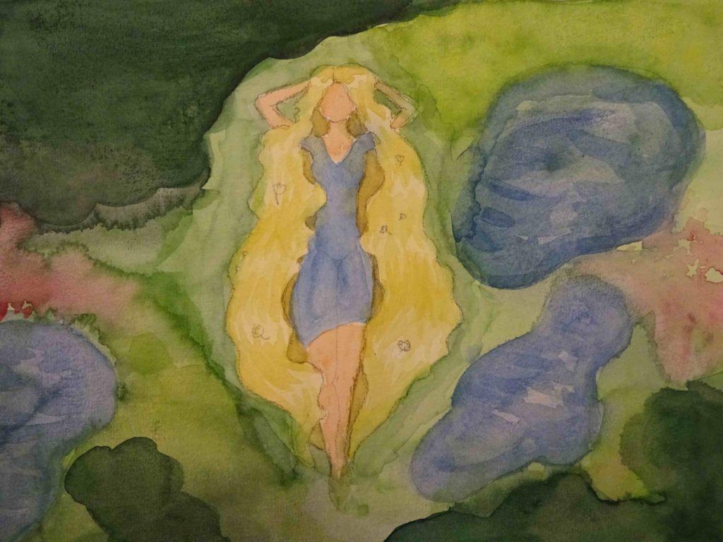 『ポーランドにいるのスラブ人女性』 作者: Róża Bachta  (2006年生まれ) ---