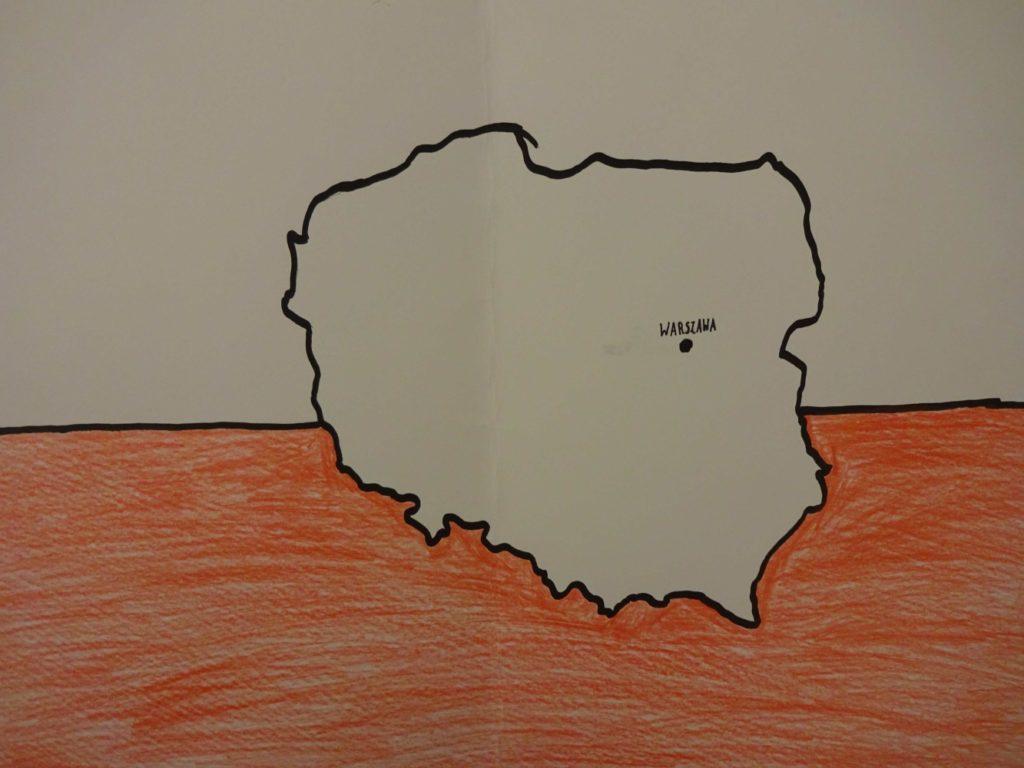 『ポーランド、私の母国』 作者: Kinga Topczewska  (2007年生まれ) ---
