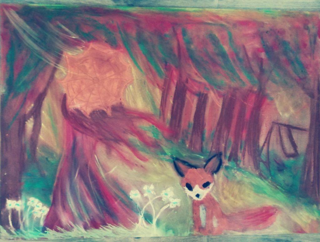 『秋』 作者: Antonina Sawicka  (2009年生まれ) ---
