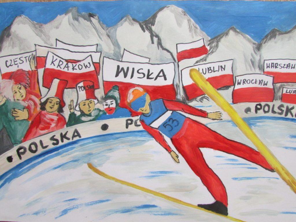 『スキージャンプ』 作者: Norbert Sierpień  (2005年生まれ) ---