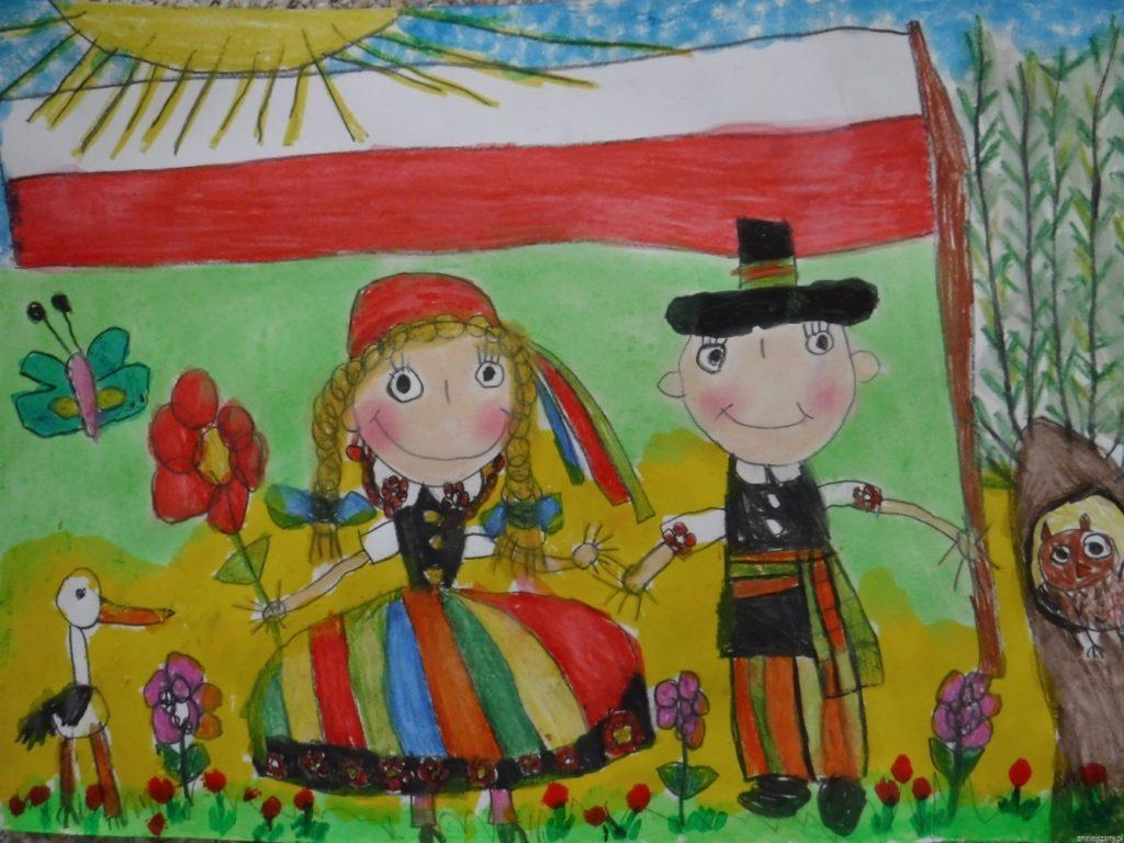 『民族衣装を着た子どもたち』 作者: Hanna Grochowska  (2013年生まれ) ---