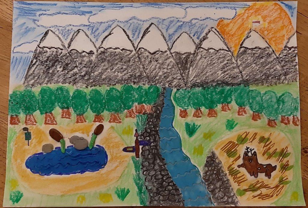 『ポーランドの美しいタタル山脈』 作者: Weronika Haraszczuk  (2008年生まれ) ---