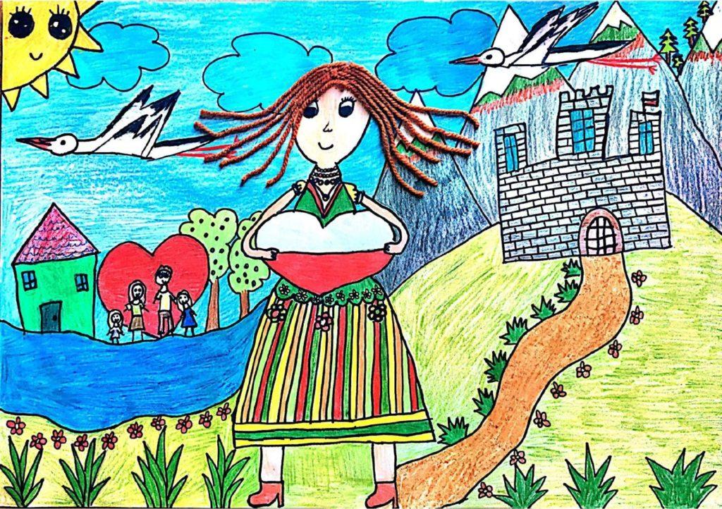 ポーランドー私の国はいつも私の心の中に』 作者: Nadia Chrabąszcz  (2010年生まれ) ---