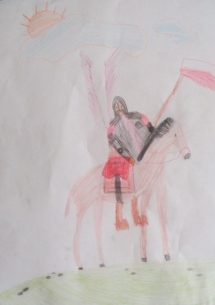 『軽騎兵』 作者: Matylda Pogoda  (2011年生まれ) ---