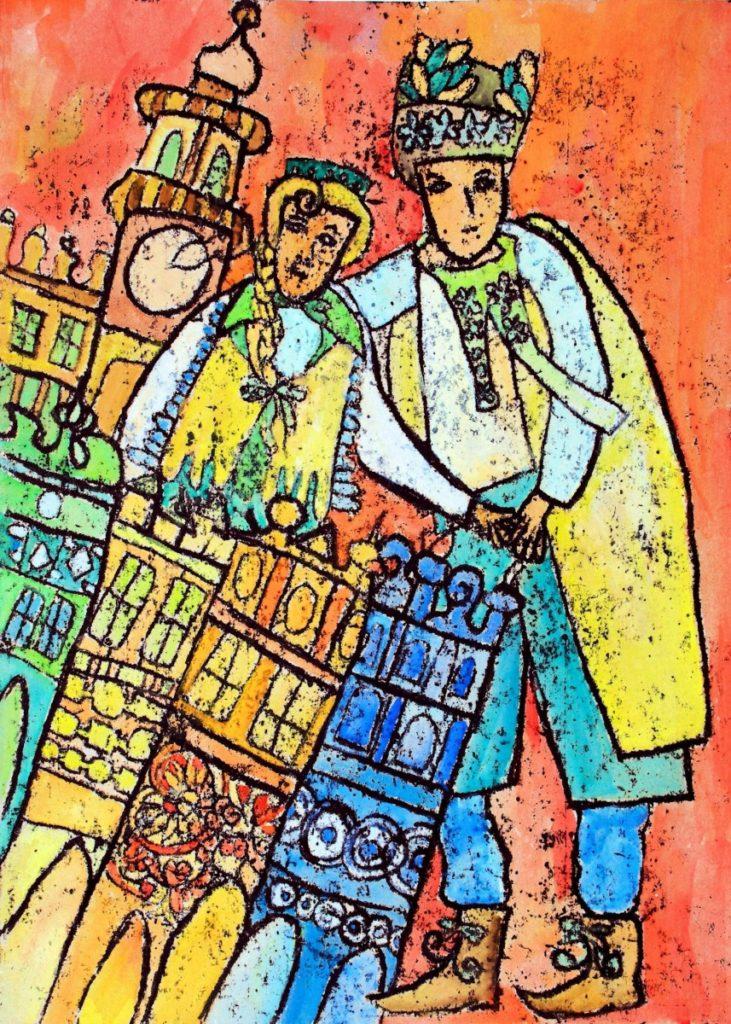 『私の街』 作者: Anna Jabłońska  (2007年生まれ) ---