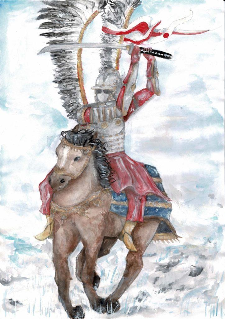『刀を持った軽騎兵』作者: Weronika Przybylska (2005年生まれ) ---