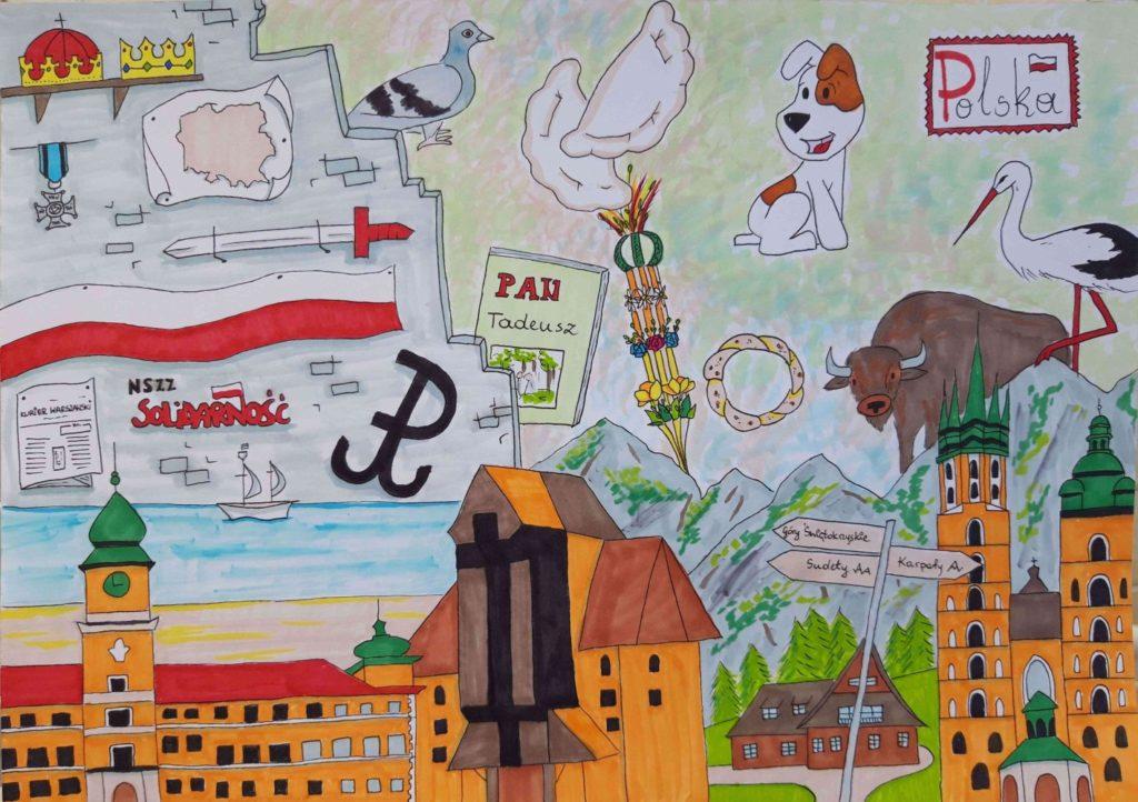 『私の国、ポーランド』 作者: Paulina Piwowarczyk  (2004年生まれ)  ---