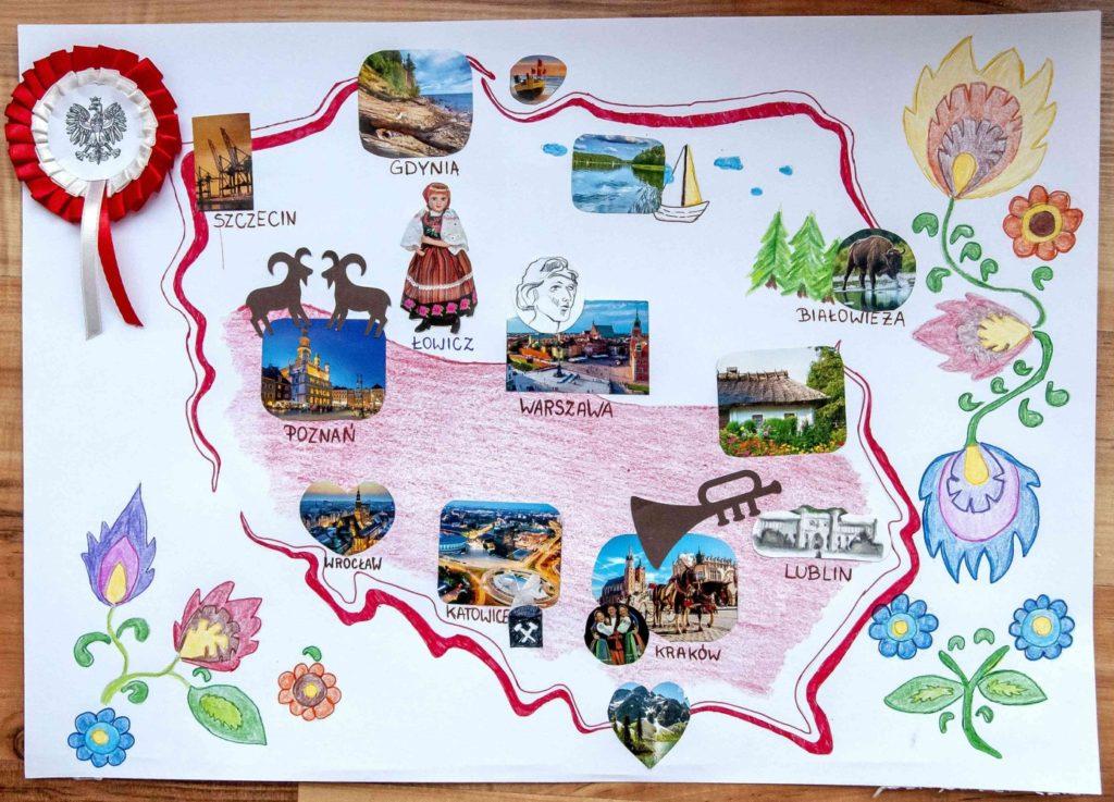 『私の母国ーポーランド』 作者: Natalia Słowiańska  (2009年生まれ)