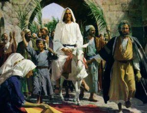 イエスが入城する様子